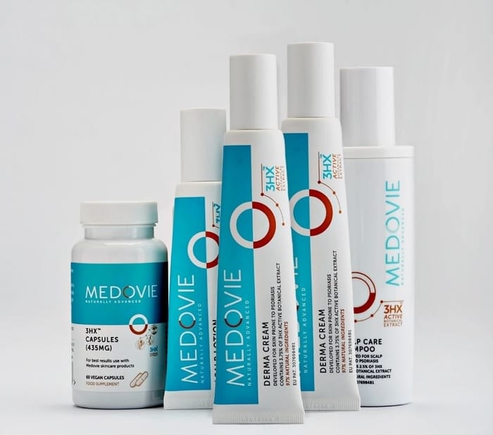 The range of Medovie products for body and scalp care